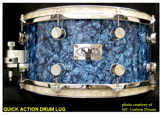 SJC Custom Snare Drum with R1 lugs